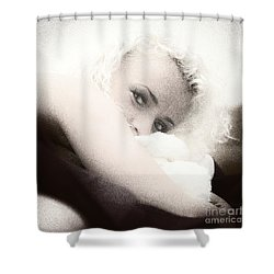 Vintage Eyes Shower Curtain by Stelios Kleanthous