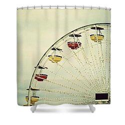 Vintage Ferris Wheel Shower Curtain by Kim Hojnacki