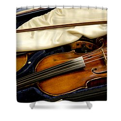 Vintage Fiddle In The Case Shower Curtain