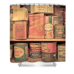 Vintage Food Pantry Shower Curtain by Edward Fielding