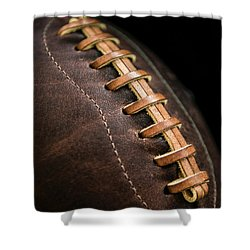 Vintage Football Shower Curtain by Diane Diederich