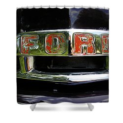 Vintage Ford Shower Curtain by Laurie Perry