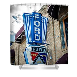 Vintage Ford Sign Shower Curtain