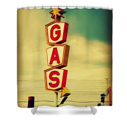 Vintage Gas Sign Shower Curtain