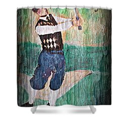 Vintage Golfer Shower Curtain