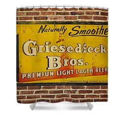 Vintage Griesedieck Bros Beer Dsc07192 Shower Curtain
