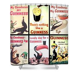 Vintage Guinness  Shower Curtain