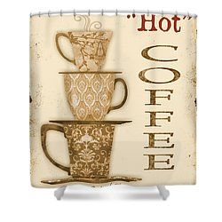 Vintage Hot Coffee Sign Shower Curtain by Jean Plout