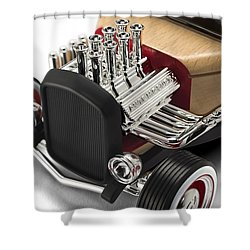 Shower Curtain featuring the photograph Vintage Hot Rod Engine by Gianfranco Weiss