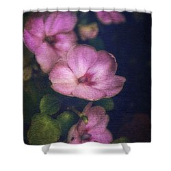 Vintage Impatiens Shower Curtain