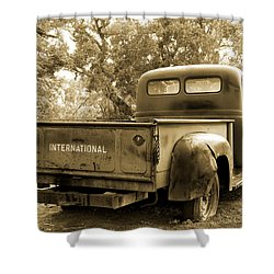 Shower Curtain featuring the photograph Vintage International by Steven Bateson
