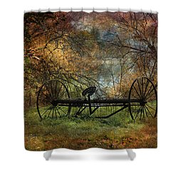 Vintage Shower Curtain by Kathy Bassett