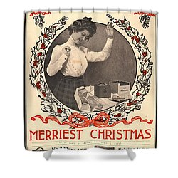 Vintage Kodak Christmas Card Shower Curtain