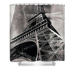 Shower Curtain featuring the photograph Vintage La Tour Eiffel by John Rizzuto