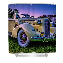 Vintage Lasalle Convertible Shower Curtain by Edward Fielding