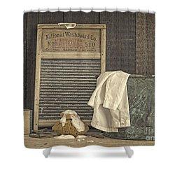 Vintage Laundry Room II By Edward M Fielding Shower Curtain by Edward Fielding