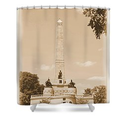 Vintage Lincoln's Tomb Shower Curtain by Luther Fine Art
