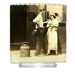 Shower Curtain featuring the photograph Vintage Love In Memory Of My Deceased Grandfather From Ireland I Never New by Michael Hoard