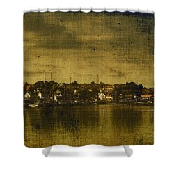 Shower Curtain featuring the digital art Vintage Maldon  by Fine Art By Andrew David