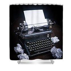 Vintage Manual Typewriter Shower Curtain by Edward Fielding