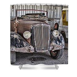 Vintage Morris Commercial Shower Curtain by Douglas Barnard