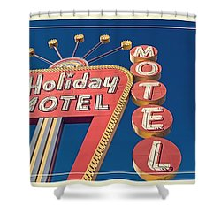 Vintage Neon Signs Trio Shower Curtain by Edward Fielding
