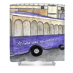 Vintage Nyu Trolley Shower Curtain