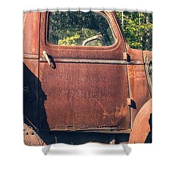 Vintage Old Rusty Truck Shower Curtain by Edward Fielding