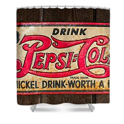 Vintage Pepsi Cola Ad Shower Curtain by Les Palenik