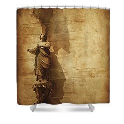 Vintage Photo Of Duomo Architecture Shower Curtain by Evgeny Kuklev