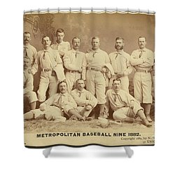 Vintage Photo Of Metropolitan Baseball Nine Team In 1882 Shower Curtain