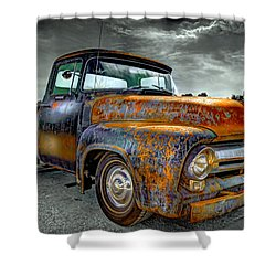 Vintage  Pickup Truck Shower Curtain