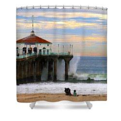Vintage Pier Shower Curtain by Joe Schofield