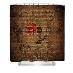 Vintage Poem 4 Shower Curtain by Andrew Fare