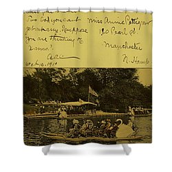 Vintage Postcard  October 10 1910 Shower Curtain
