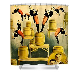 Vintage Poster - Circus - Ringling Bros Shower Curtain by Benjamin Yeager