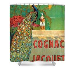 Vintage Poster Advertising Cognac Shower Curtain by Camille Bouchet