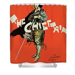 Vintage Poster For The Chieftain At The Savoy Shower Curtain by Dudley Hardy