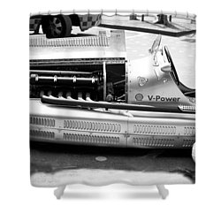 Shower Curtain featuring the photograph Vintage Racing Car by Gianfranco Weiss
