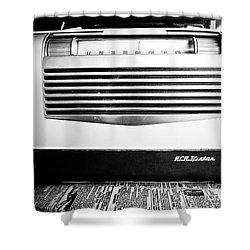 Vintage Radio Shower Curtain by Edward Fielding