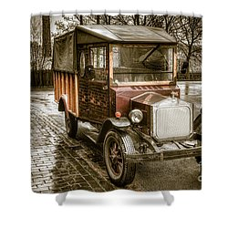 Vintage Replica Shower Curtain by Adrian Evans