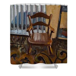 Shower Curtain featuring the painting Vintage Rocker by Pattie Wall