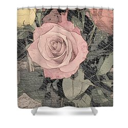 Vintage Romance Rose Shower Curtain
