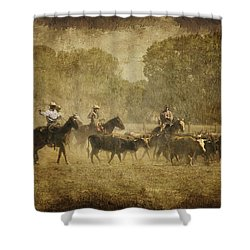 Vintage Roundup Shower Curtain