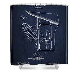 Vintage Rudder Patent Drawing From 1887 Shower Curtain by Aged Pixel
