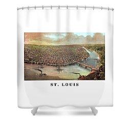 Vintage Saint Louis Missouri Shower Curtain by War Is Hell Store