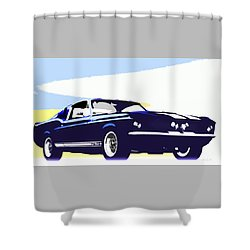 Vintage Shelby Gt500 Shower Curtain by Bob Orsillo