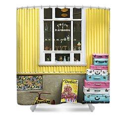 Vintage Shop In Akureyri Iceland Shower Curtain