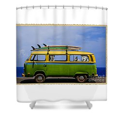 Vintage Surf Van Shower Curtain by Diane Diederich
