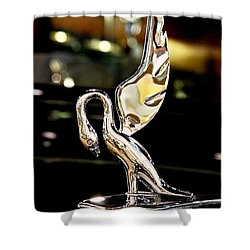 Vintage Swan Packard Hood Ornament Car Fine Art Photography Print  Shower Curtain
